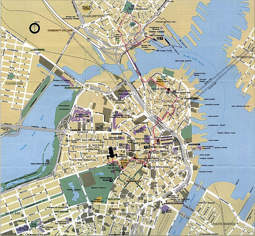 Large Boston Maps For Free Download And Print   High-Resolution And - Printable Map Of Boston Attractions