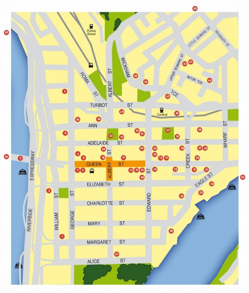 Large Brisbane Maps For Free Download And Print | High-Resolution - Brisbane Cbd Map Printable
