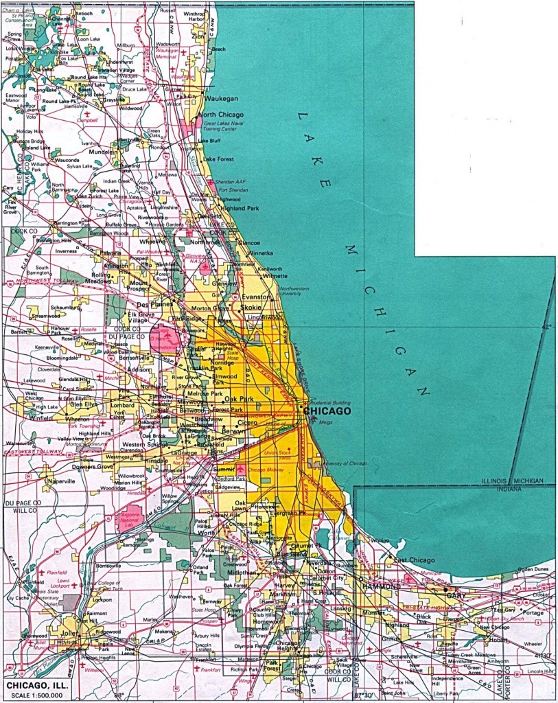 Large Chicago Maps For Free Download And Print | High-Resolution And - Printable Map Of Chicago Suburbs