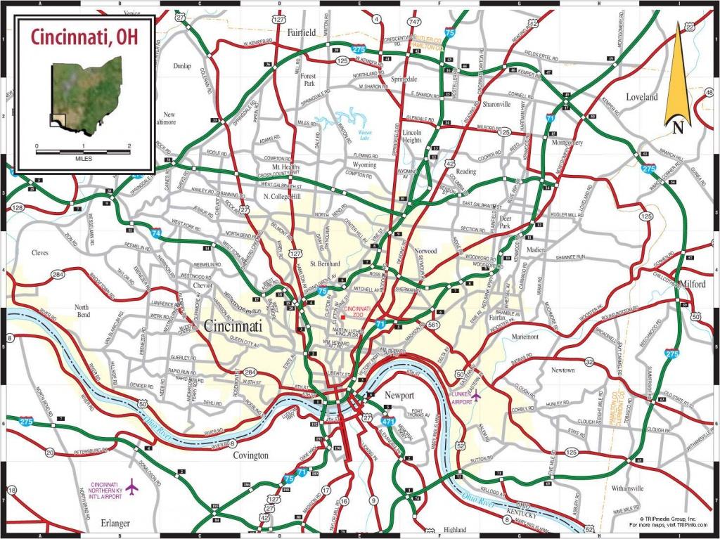 Large Cincinnati Maps For Free Download And Print   High-Resolution - Printable Cincinnati Map