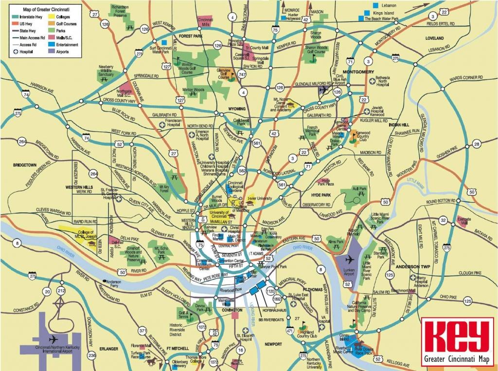 Large Cincinnati Maps For Free Download And Print | High-Resolution - Printable Cincinnati Map