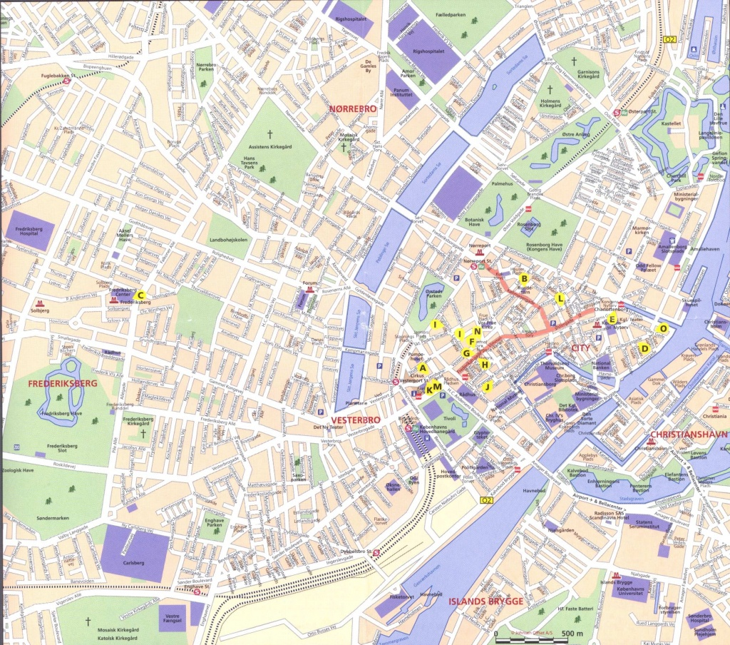 Large Copenhagen Maps For Free Download And Print | High-Resolution - Copenhagen Tourist Map Printable