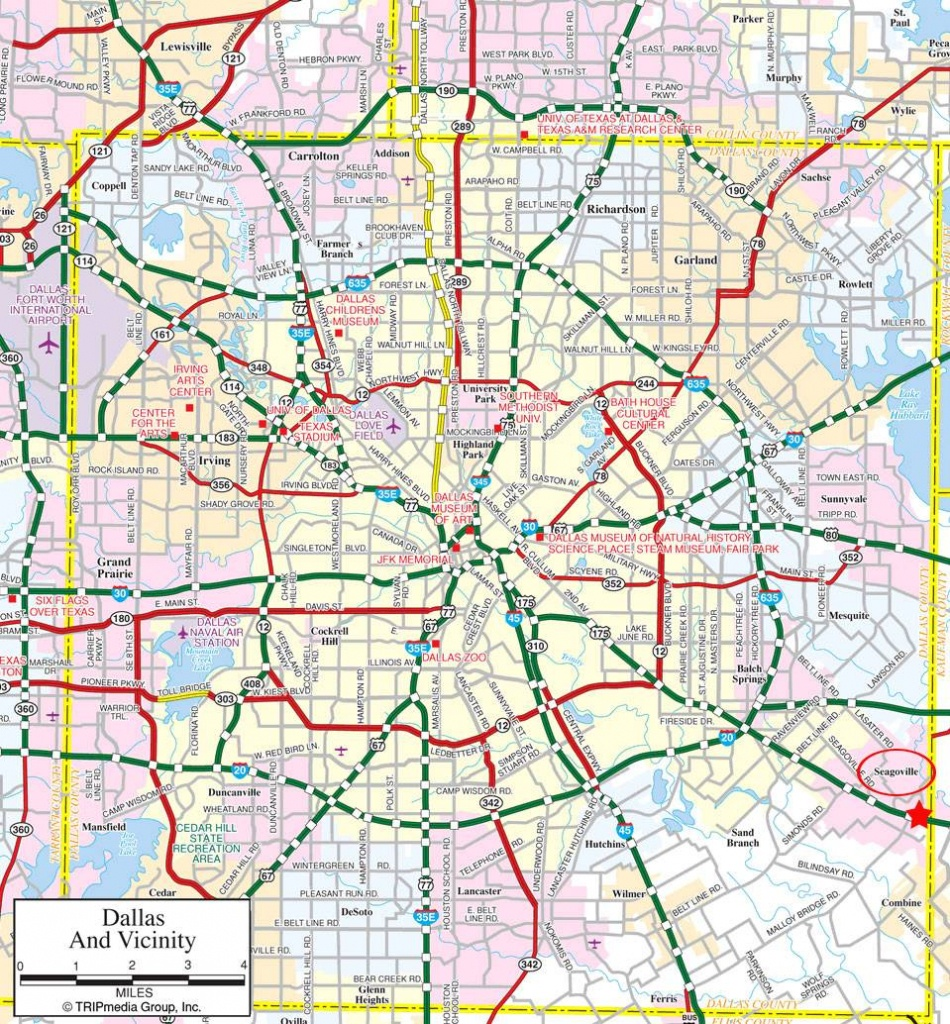 Large Dallas Maps For Free Download And Print | High-Resolution And - Street Map Of Fort Worth Texas