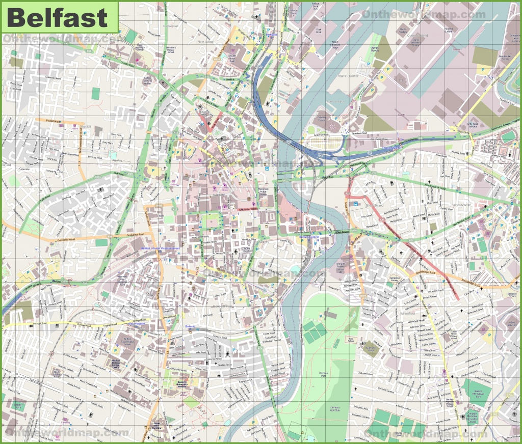 Large Detailed Map Of Belfast - Belfast City Map Printable