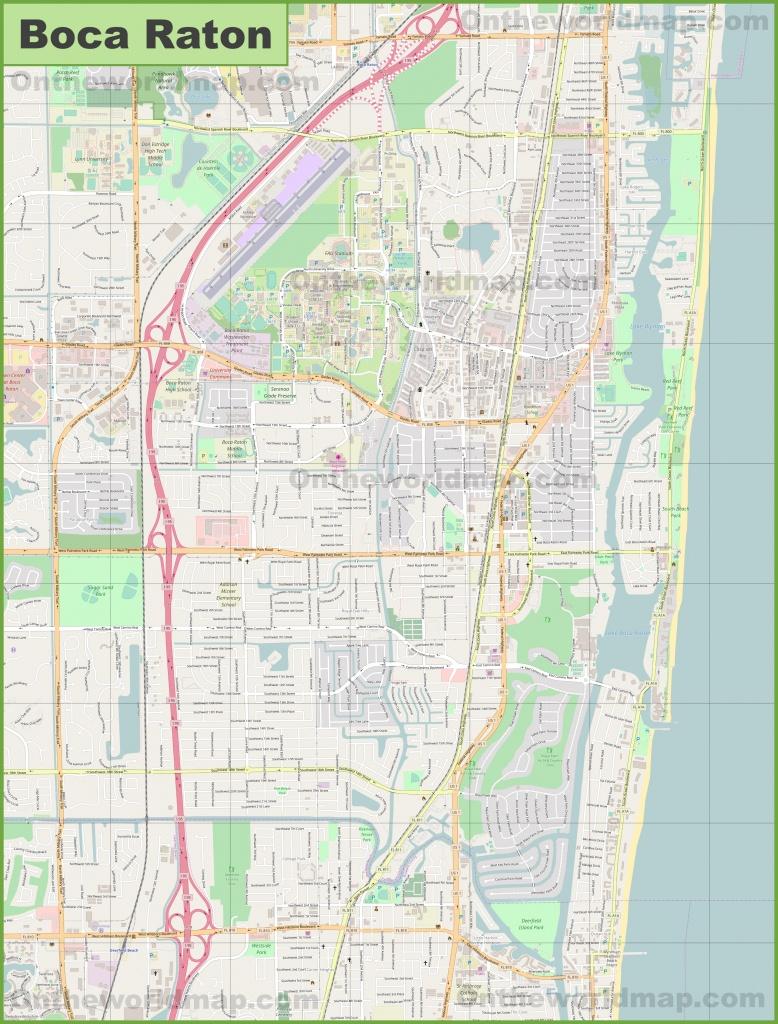 Large Detailed Map Of Boca Raton - Boca Florida Map