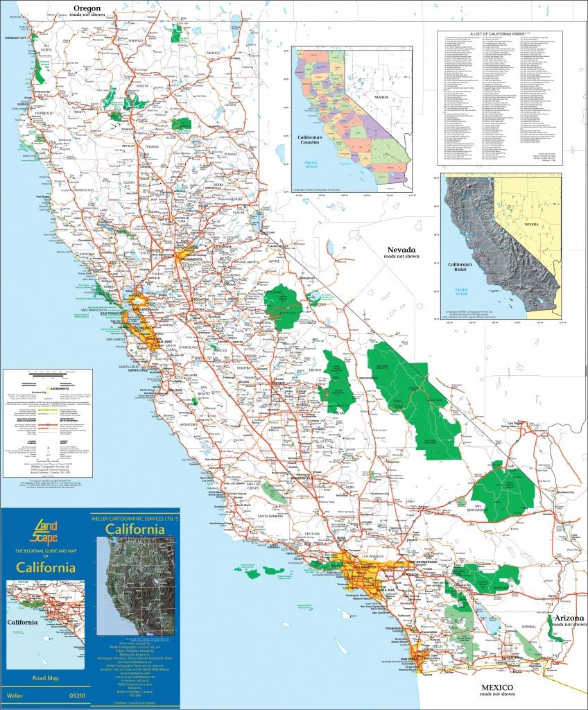 Large Detailed Map Of California With Cities And Towns - California County Map With Cities