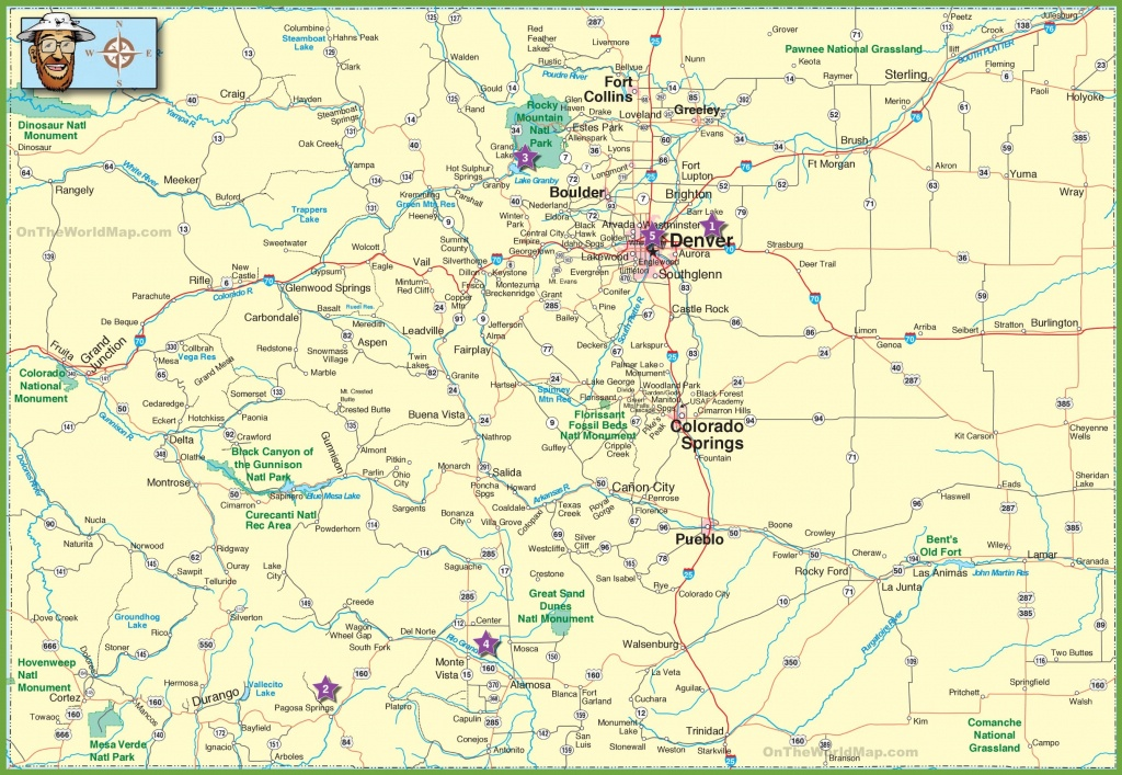 Large Detailed Map Of Colorado With Cities And Roads - Free Printable State Road Maps