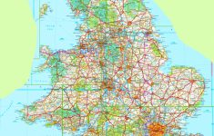 Large Detailed Map Of England   Printable Map Of England With Towns And Cities