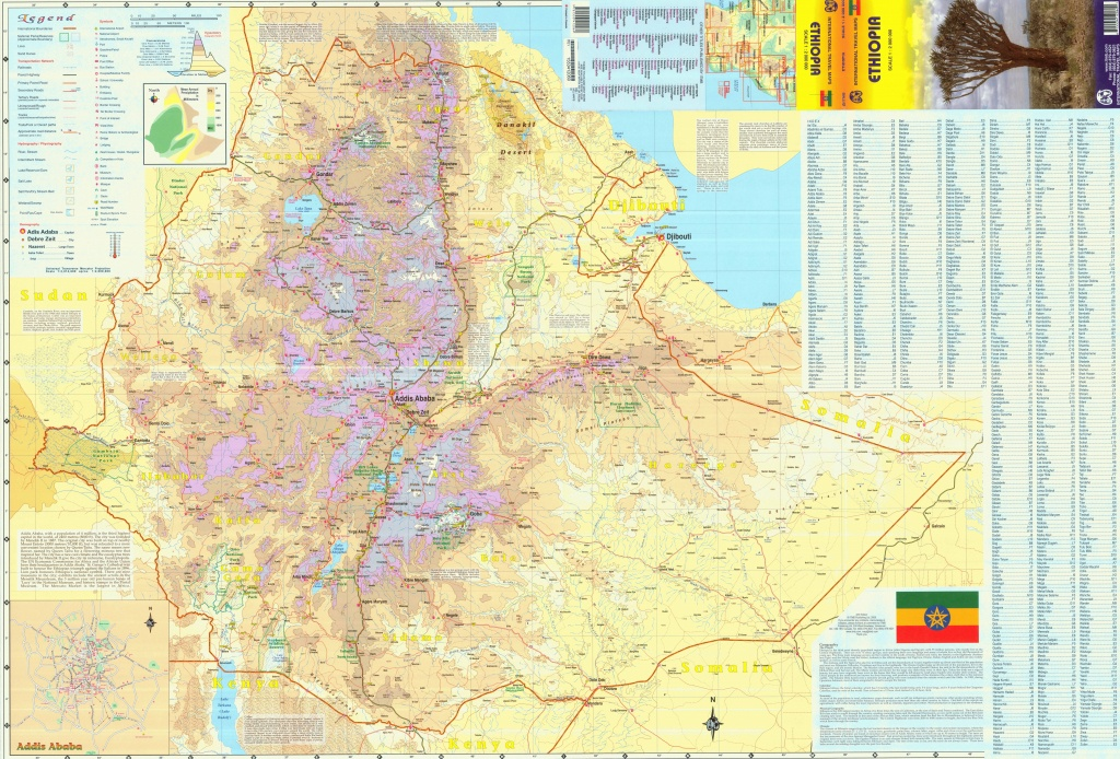 Large Detailed Map Of Ethiopia - Printable Map Of Ethiopia