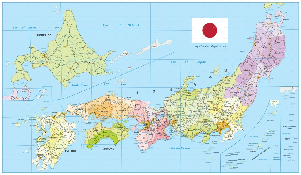 Large Detailed Map Of Japancartarium | Graphicriver - Large Printable Map Of Japan