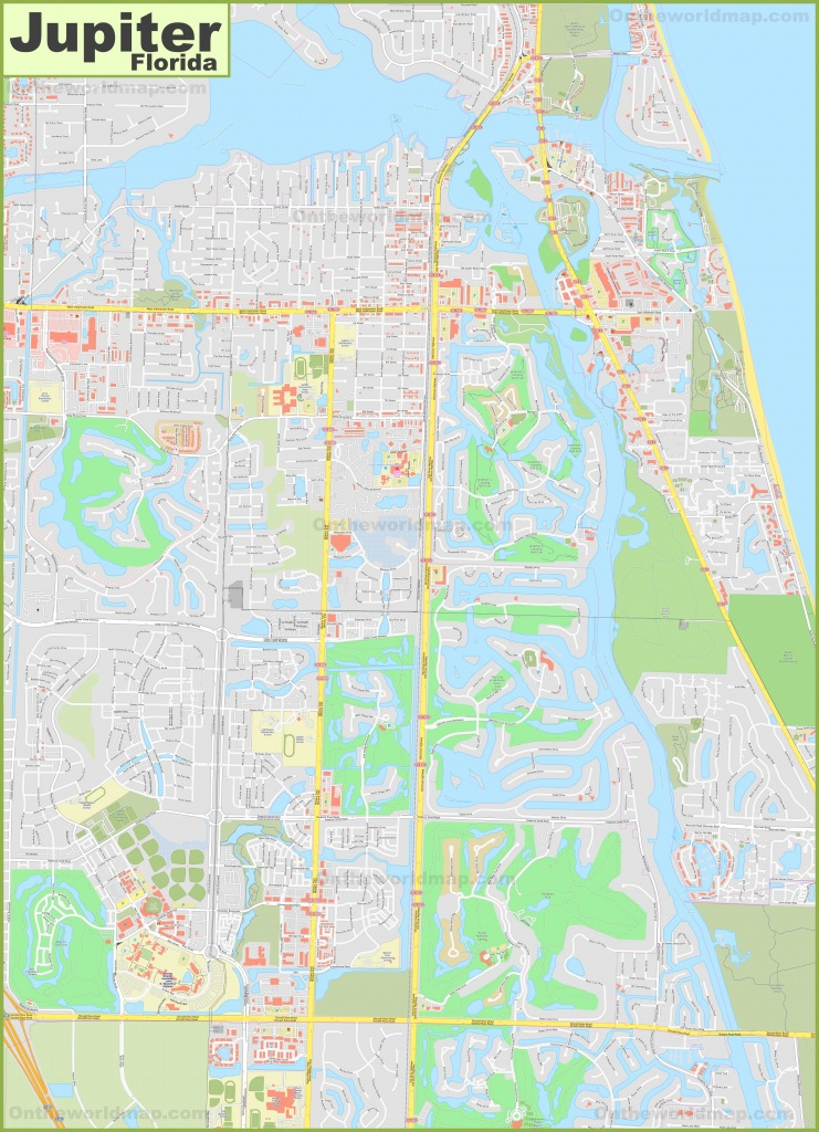 Large Detailed Map Of Jupiter - Jupiter Inlet Florida Map