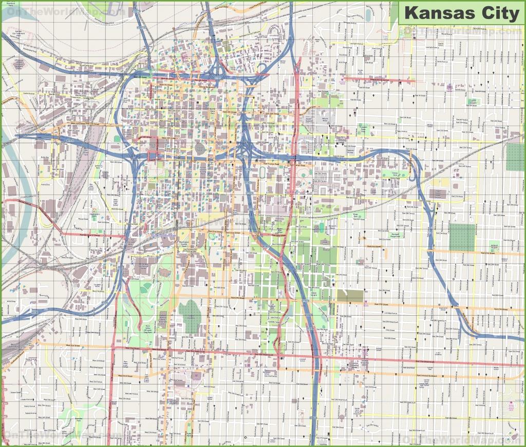 Large Detailed Map Of Kansas City - Printable Map Of Kansas