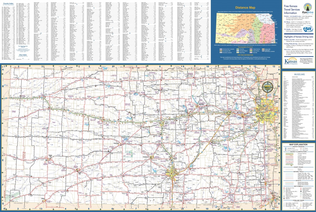 Large Detailed Map Of Kansas With Cities And Towns - Printable Map Of Kansas