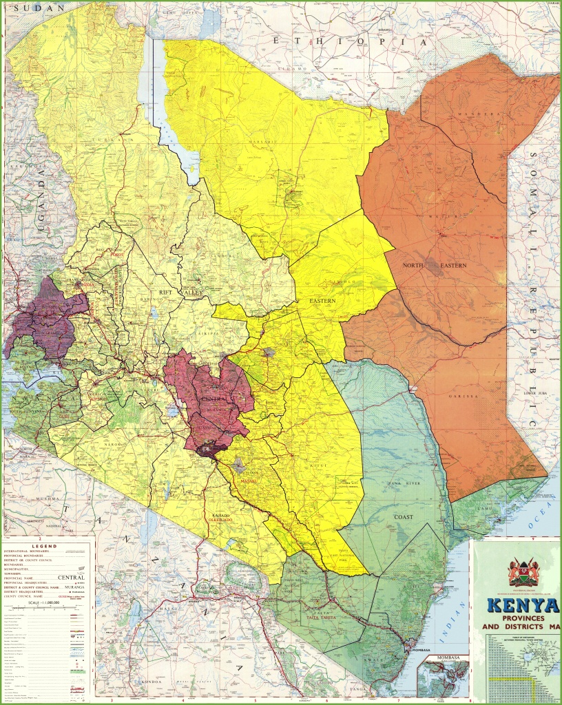 Large Detailed Map Of Kenya - Printable Map Of Kenya