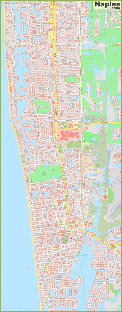 Large Detailed Map Of Naples (Florida) - Map Of North Naples Florida