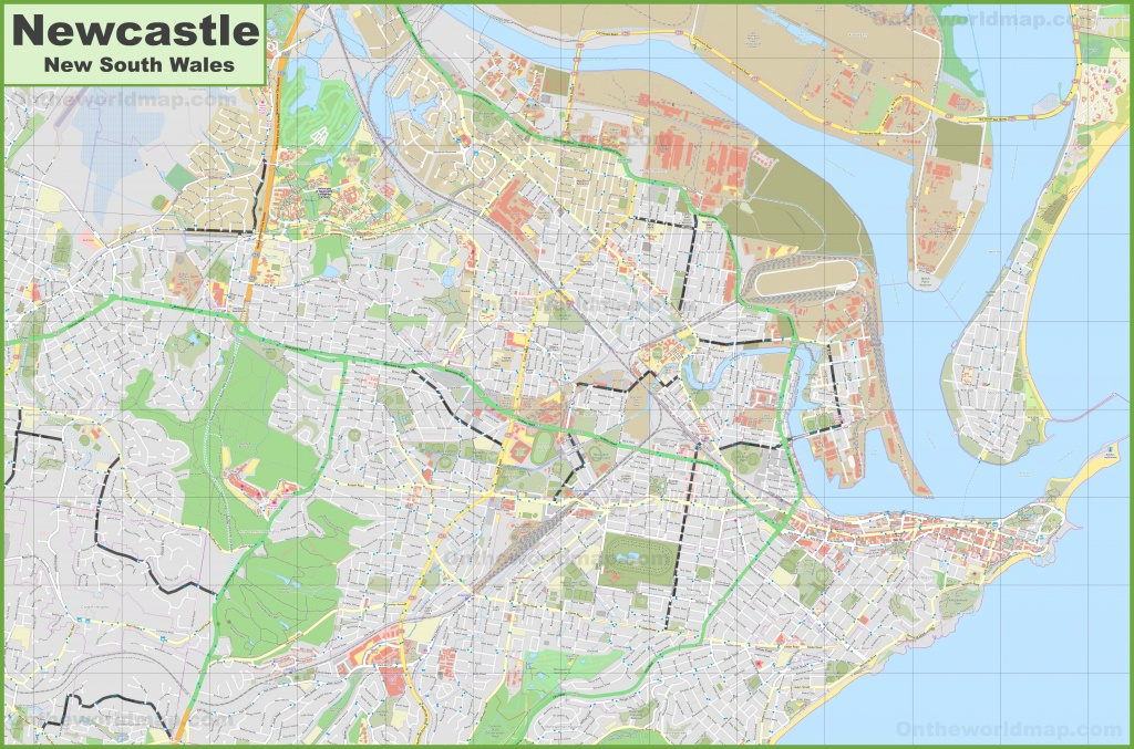 Large Detailed Map Of Newcastle - Printable Map Of Newcastle Nsw