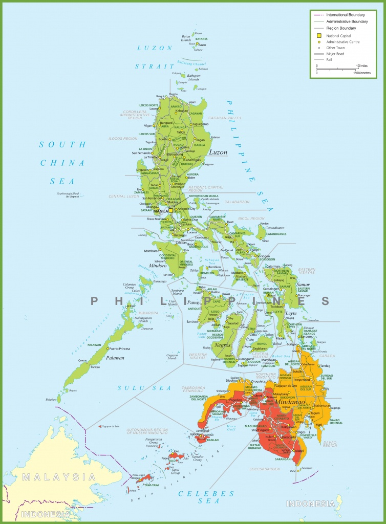 Large Detailed Map Of Philippines - Printable Quezon Province Map