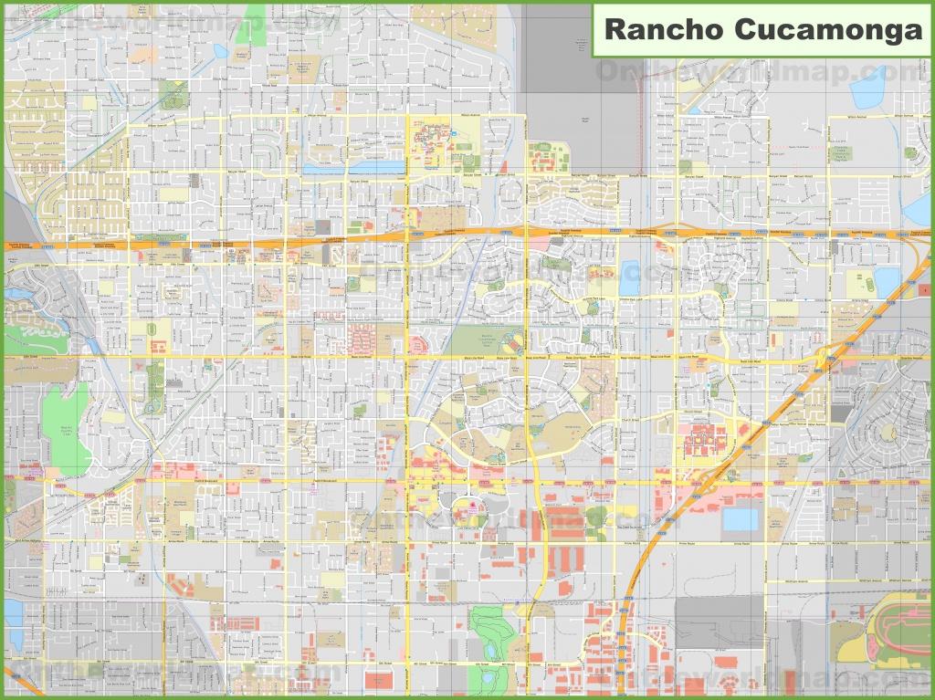 Large Detailed Map Of Rancho Cucamonga - Rancho Cucamonga California Map