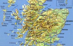 Large Detailed Map Of Scotland With Relief, Roads, Major Cities And   Detailed Map Of Scotland Printable