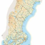 Large Detailed Map Of Sweden With Cities And Towns   Printable Map Of Sweden