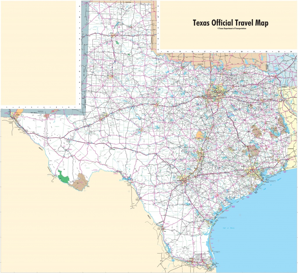 Large Detailed Map Of Texas With Cities And Towns - North Texas Highway Map