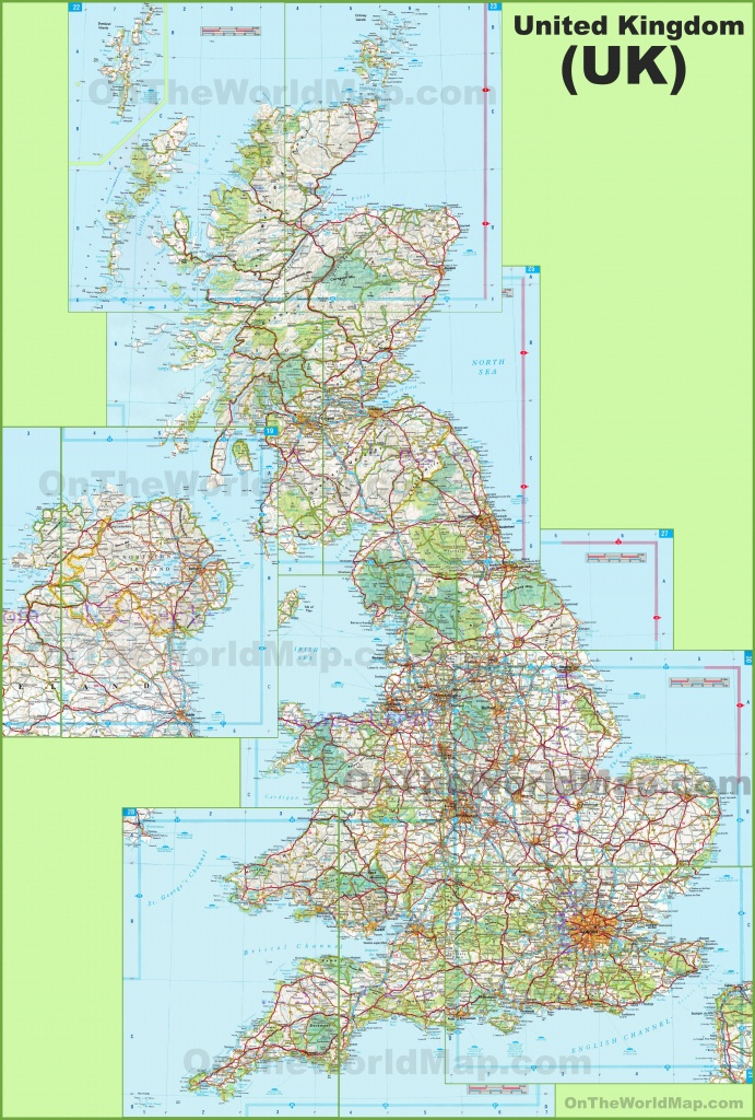 Large Detailed Map Of Uk With Cities And Towns - Printable Map Of Great Britain