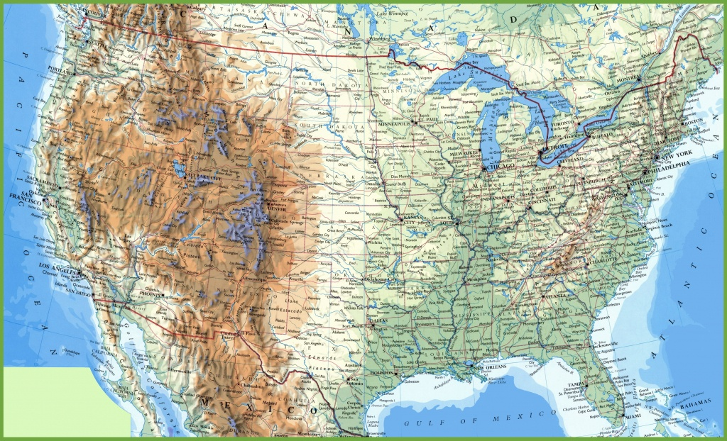 Large Detailed Map Of Usa With Cities And Towns - Printable Map Of Usa With States And Cities