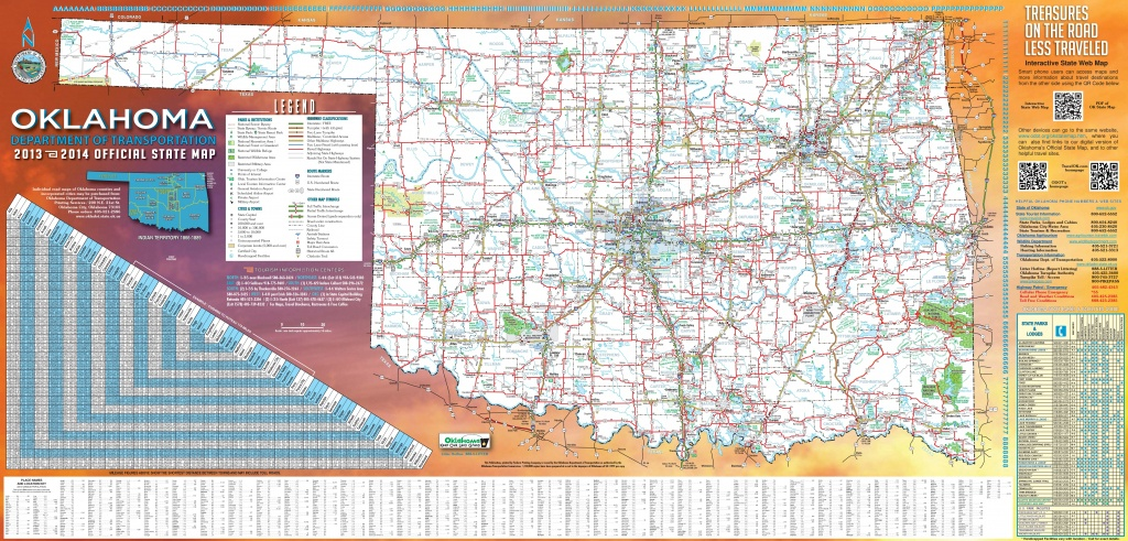 large detailed road map of oklahoma oklahoma state map printable Oklahoma State Map Printable