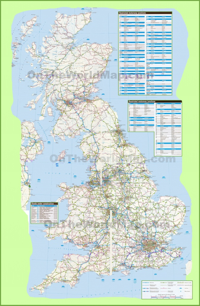 Large Detailed Road Map Of Uk - Printable Road Maps Uk