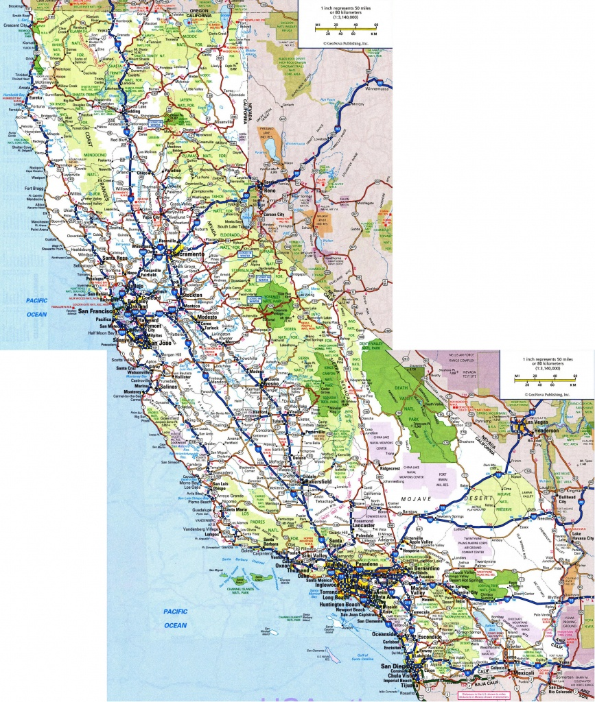 Large Detailed Roads And Highways Map Of California State With All - California Map With All Cities