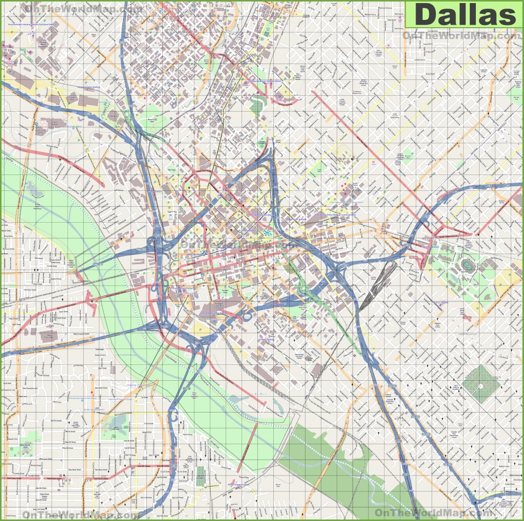 Large Detailed Street Map Of Dallas - Street Map Of Dallas Texas