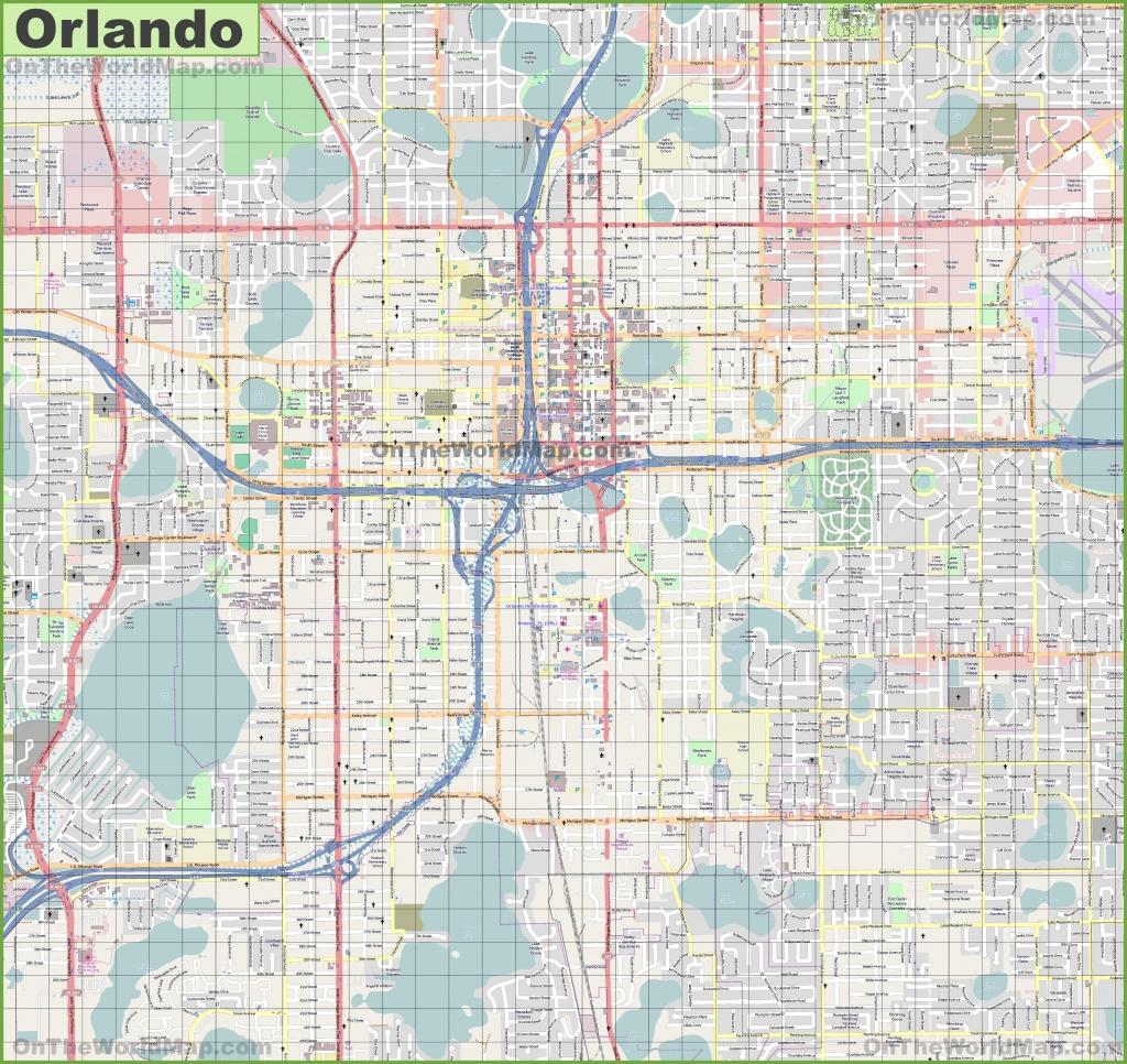 Large Detailed Street Map Of Orlando - Detailed Map Of Orlando Florida