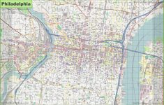 Large Detailed Street Map Of Philadelphia   Printable Street Maps