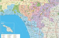 Large Detailed Tourist Map Of Los Angeles   Map Of Los Angeles California Attractions