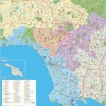 Large Detailed Tourist Map Of Los Angeles   Printable Map Of Los Angeles