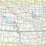 Large Detailed Tourist Map Of North Dakota With Cities And Towns   Printable Map Of North Dakota