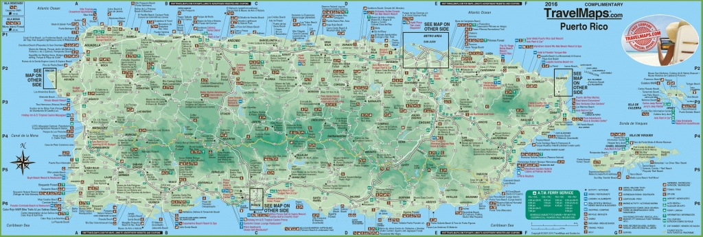 Large Detailed Tourist Map Of Puerto Rico With Cities And Towns - Printable Map Of Puerto Rico