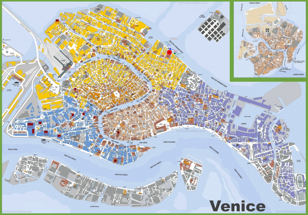Large Detailed Tourist Map Of Venice - Tourist Map Of Venice Printable