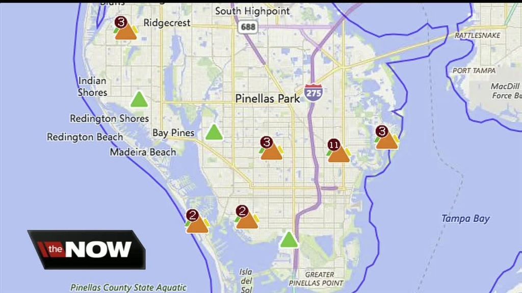 Large Duke Energy Power Outage Disrupts Traffic Signals In St. Pete - Duke Florida Outage Map