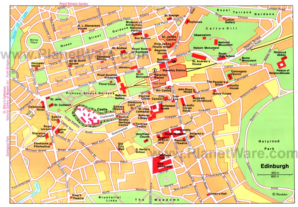 Large Edinburgh Maps For Free Download And Print | High-Resolution - Edinburgh City Map Printable