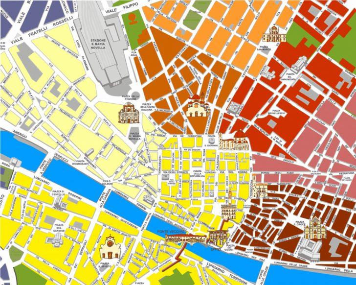 Florence City Map Printable