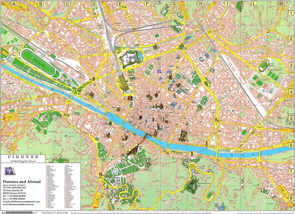 Large Florence Maps For Free Download And Print | High-Resolution - Florence Tourist Map Printable