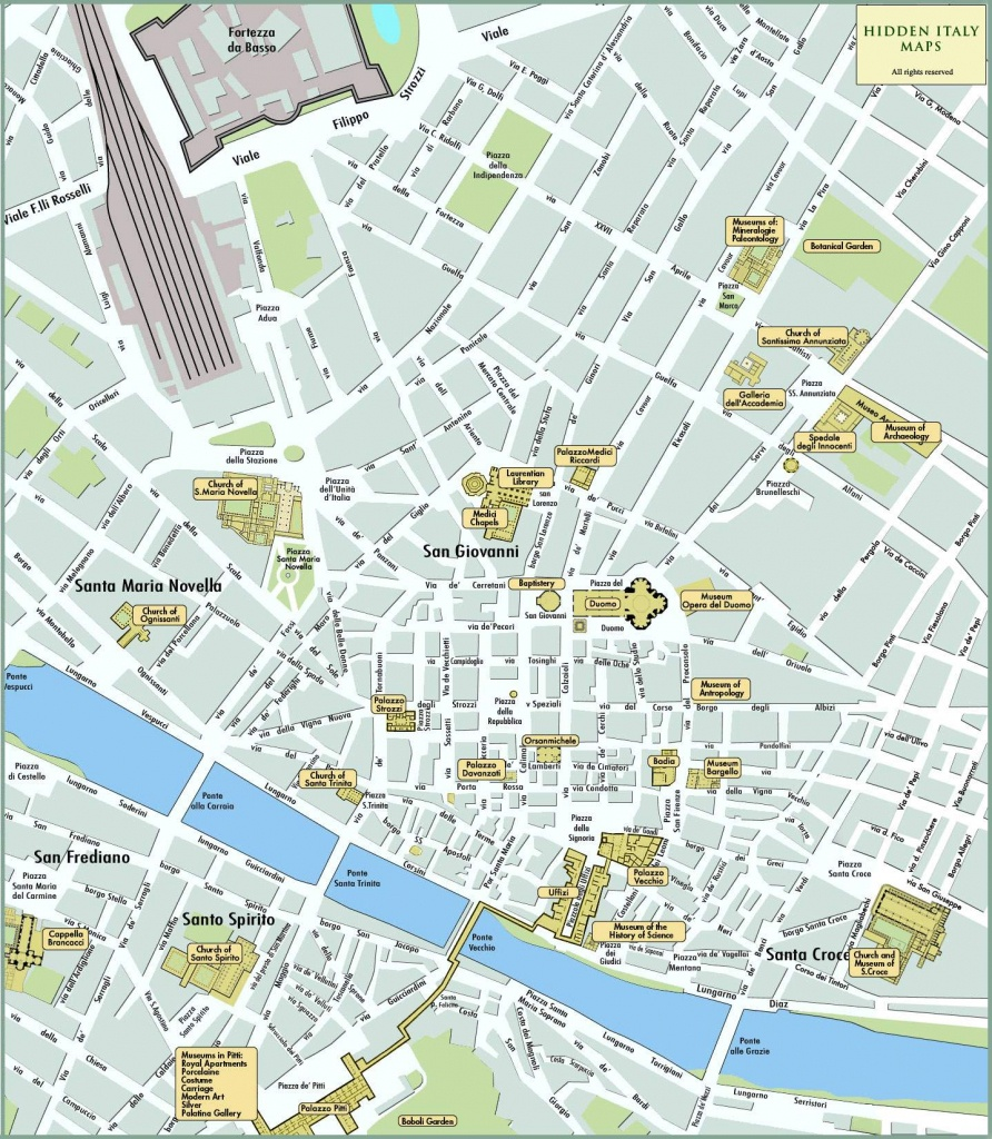 Large Florence Maps For Free Download And Print | High-Resolution - Printable Map Of Florence Italy
