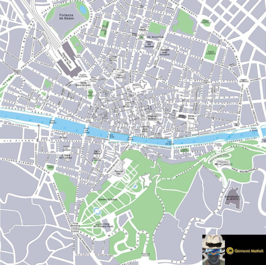 Large Florence Maps For Free Download And Print   High-Resolution - Printable Street Map Of Florence Italy