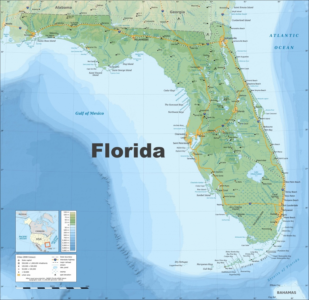 Large Florida Maps For Free Download And Print | High-Resolution And - Map Of Florida East Coast Beach Towns