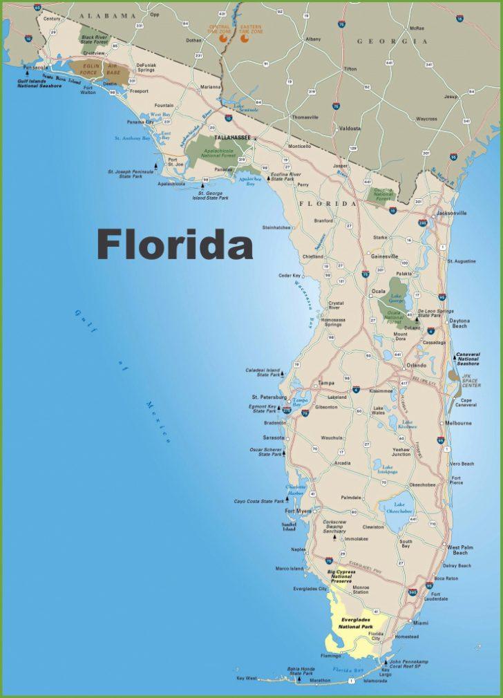 Printable Map Of Florida