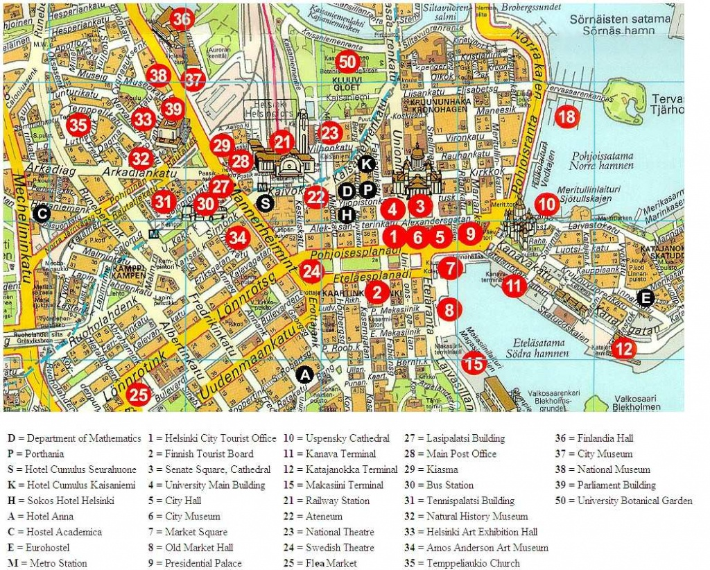 Large Helsinki Maps For Free Download And Print | High-Resolution - Helsinki City Map Printable