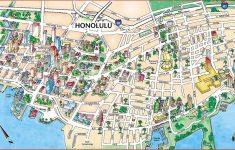 Large Honolulu Maps For Free Download And Print | High Resolution   Printable Map Of Waikiki
