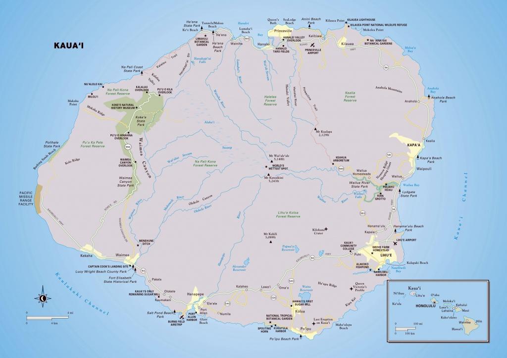 Large Kauai Island Maps For Free Download And Print | High - Printable Map Of Maui