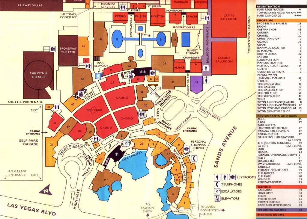Large Las Vegas Maps For Free Download And Print   High-Resolution - Printable Map Of Las Vegas Strip